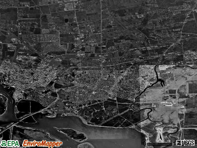 Baytown satellite photo by USGS