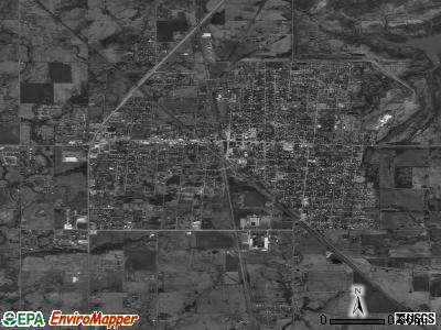 Wagoner satellite photo by USGS