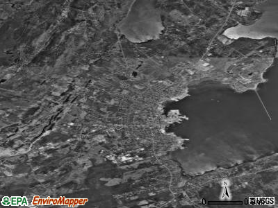 Rockland satellite photo by USGS