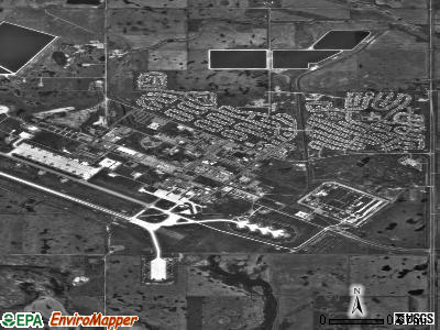 Minot AFB satellite photo by USGS