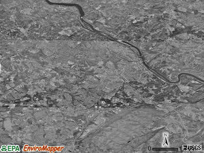 Lynchburg satellite photo by USGS