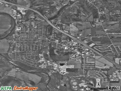 Harrison satellite photo by USGS