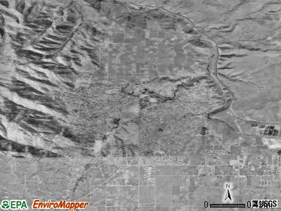 Albion satellite photo by USGS