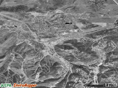 Park City satellite photo by USGS