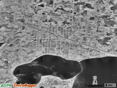 Detroit Lakes satellite photo by USGS