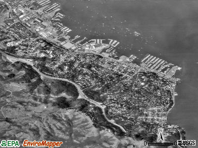 Sausalito satellite photo by USGS