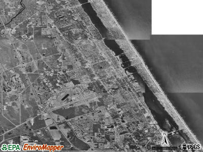 Daytona Beach satellite photo by USGS