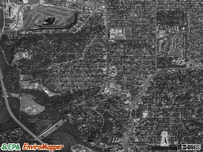 Alamo Heights satellite photo by USGS