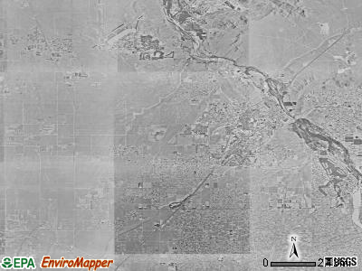 Victorville satellite photo by USGS