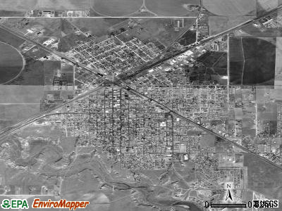 Dalhart satellite photo by USGS