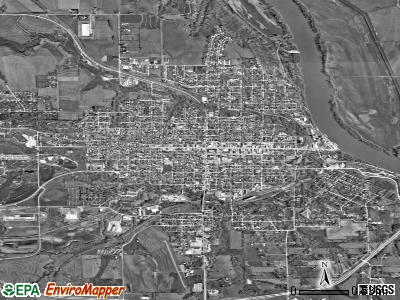 Nebraska City satellite photo by USGS