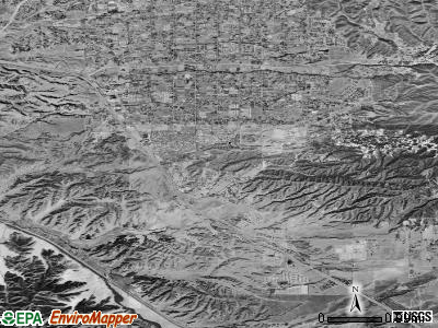 Calimesa satellite photo by USGS