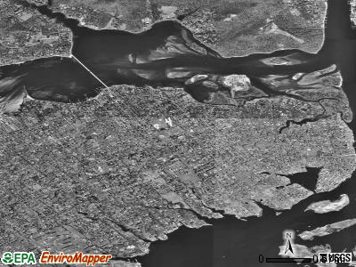 Rumson satellite photo by USGS
