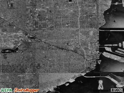 Miami satellite photo by USGS