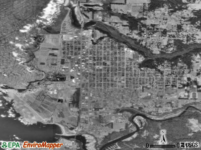 Fort Bragg satellite photo by USGS