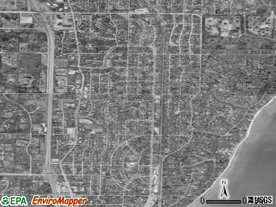 Fox Point satellite photo by USGS