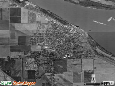 Caruthersville satellite photo by USGS