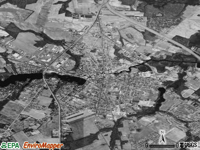 Milford satellite photo by USGS