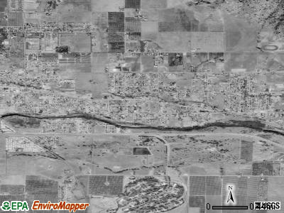 East Porterville satellite photo by USGS