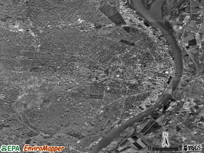 St. Louis satellite photo by USGS