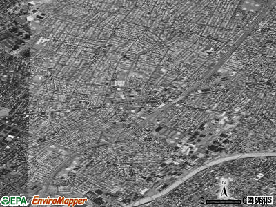 Irvington satellite photo by USGS