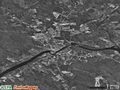 Skowhegan satellite photo by USGS