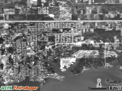 St. Martin satellite photo by USGS