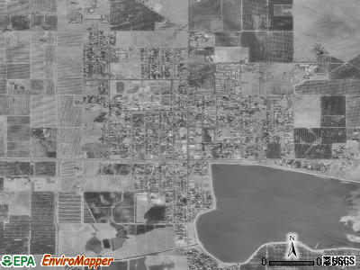 Woodlake satellite photo by USGS