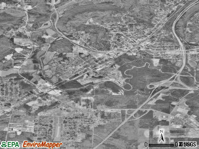 Attalla satellite photo by USGS