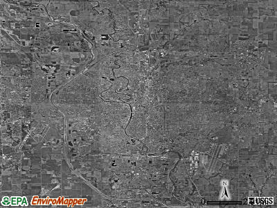 Wichita satellite photo by USGS