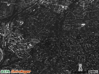 Bronxville satellite photo by USGS