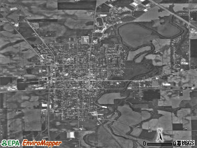 Upper Sandusky satellite photo by USGS