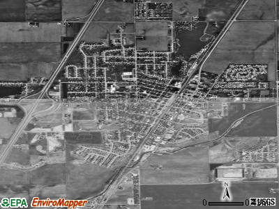 Manteno satellite photo by USGS