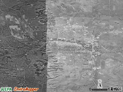 Rapid City satellite photo by USGS