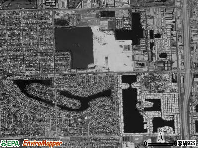 Pembroke Park satellite photo by USGS