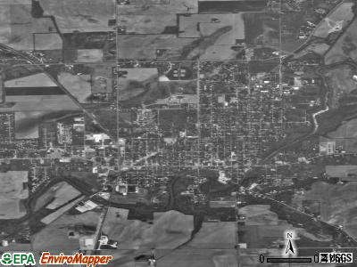 North Manchester satellite photo by USGS