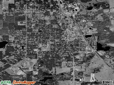 Dade City satellite photo by USGS