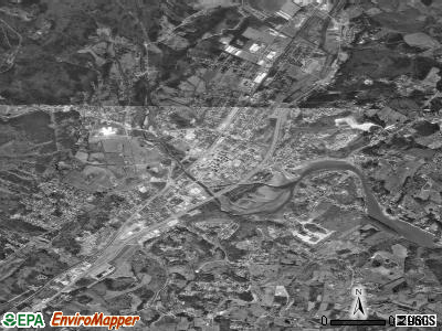 Swarthmore satellite photo by USGS
