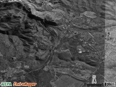 Bisbee satellite photo by USGS