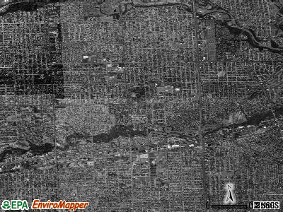 Dearborn Heights satellite photo by USGS