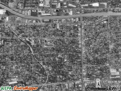 East Pasadena satellite photo by USGS