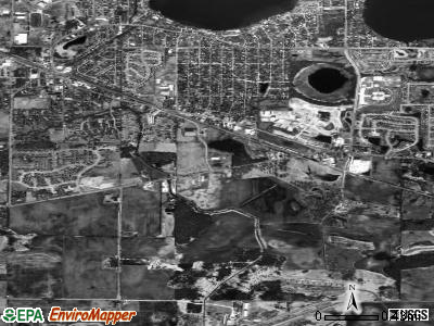 Round Lake Park satellite photo by USGS