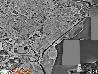 Port Arthur satellite photo by USGS