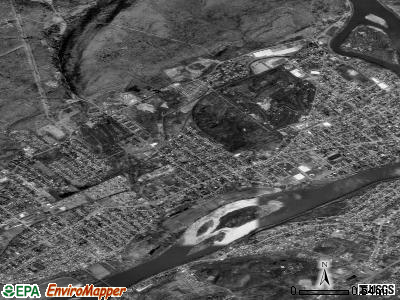 Exeter satellite photo by USGS