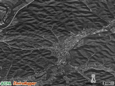 Morehead satellite photo by USGS