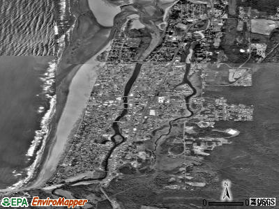Seaside satellite photo by USGS
