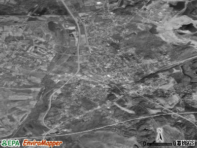 Central City satellite photo by USGS