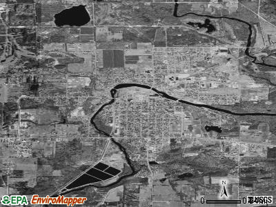 Belding satellite photo by USGS