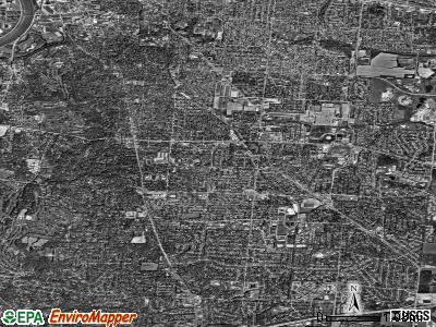 Kettering satellite photo by USGS