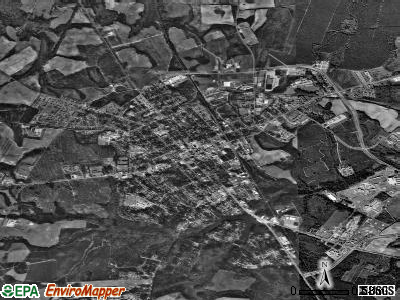 Waynesboro satellite photo by USGS